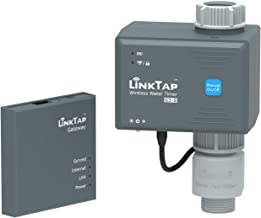 LinkTap G2S Draadloze Bewateringscomputer & Gateway & Debietmeter - Cloudgestuurde Slimme Bewateringstimer voor Tuin, Ruim...