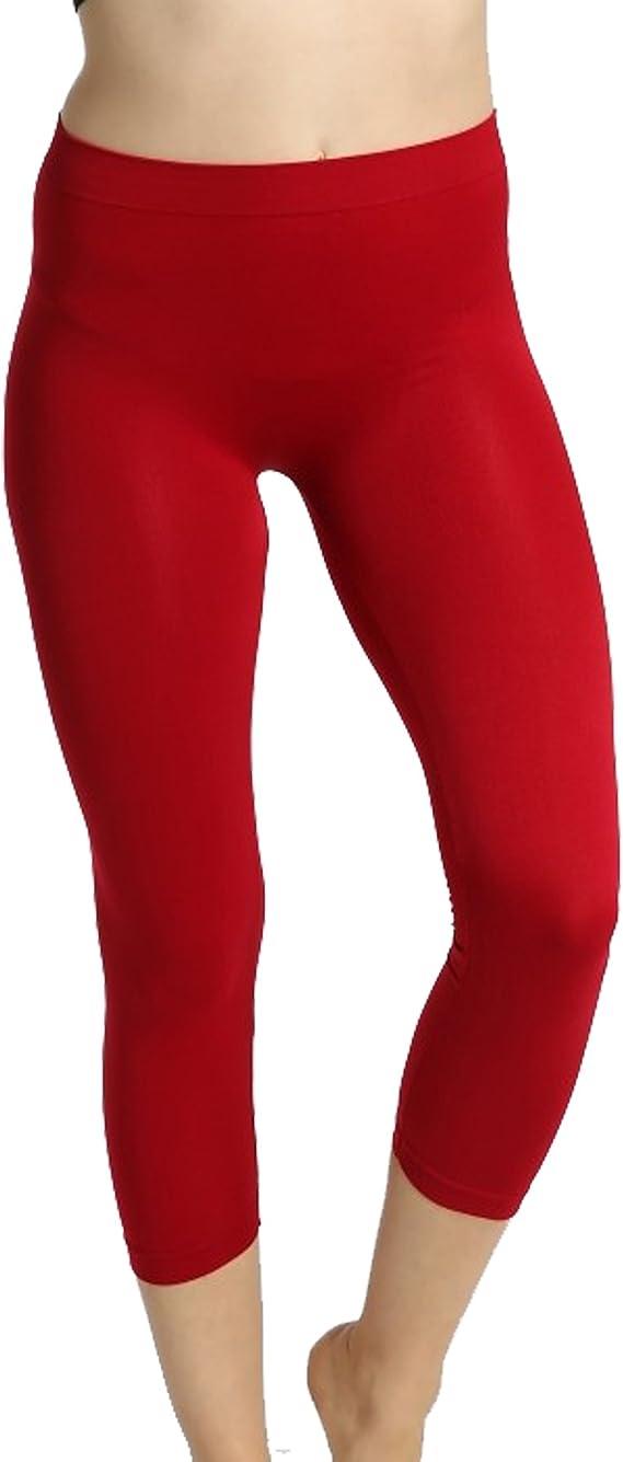 new Damen Leggings Hose Slim Skinny Capri Solid Cropped Trousers Blumen S-4XL S//