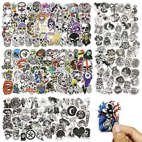 Pegatinas para Computadora Portátil, PietyPet 200 piezas cráneo Calcomanías y Adhesivos de...