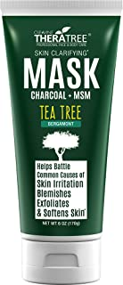 Clarifying Mud Mask with Dead Sea Minerals, Activated Charcoal & Tea Tree for Face & Body - by Oleavine TheraTree