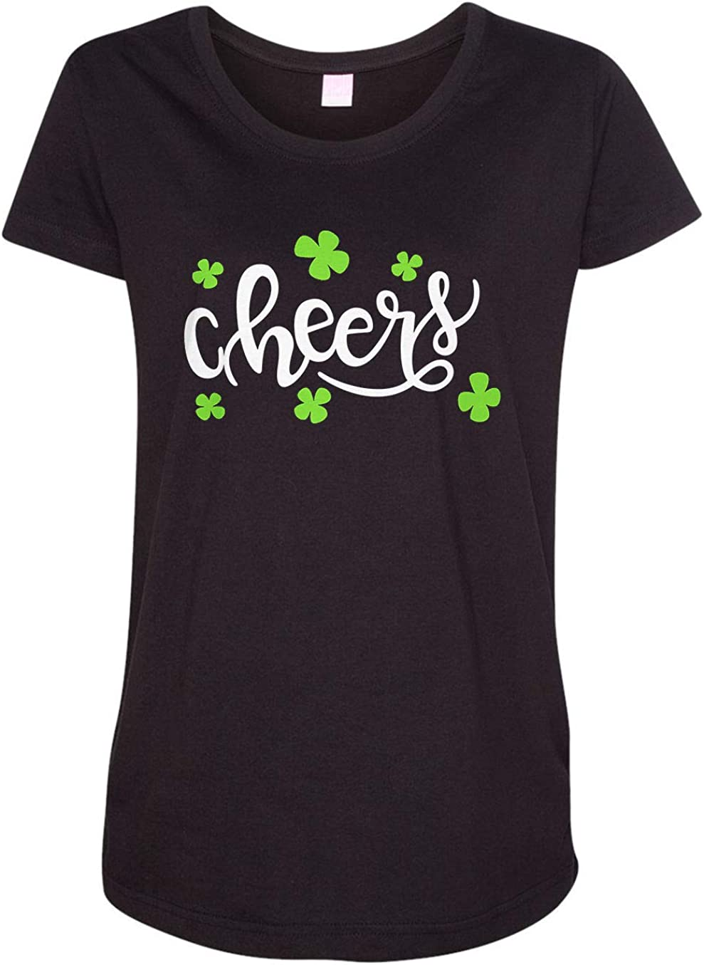 HARD EDGE DESIGN Women's St. Patty's Day Cheers Clover T-Shirt