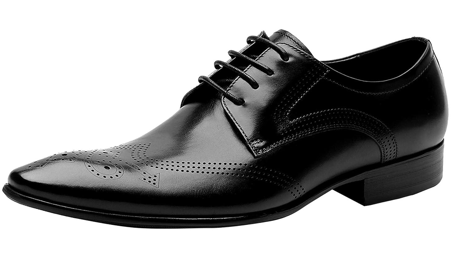 Mens Oxford Shoes Formal Leather Brogue Mens Dress Shoes - Derby Shoes - Men Wedding Shoes