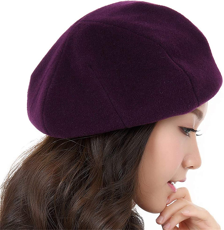 Beach Hat Winter Velvet Wild Korean Version of The British Tide Autumn and Winter Bailey hat Female Summer Sun Hat (color   Purple)