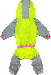 Waterproof Dog Raincoat Reflective Dogs Rain Jacket Safety Rainwear Dog Jumpsuits Poncho Clothes for Small Medium Large Pet Dogs
