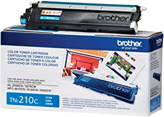 Brother TN-210C DCP-9010 HL-3040 3045 3070 3075 8070 8370 MFC-9010 9120 9125 9320 9325 Toner Cartridge (Cyan) in Retail Pa...