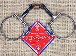 Reinsman 251 Trail Dee 3-Piece Smooth Sweet Iron Snaffle with Copper Roller; Stage A