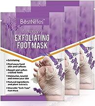 3 pack foot peel mask,foot masks that remove dead skin ,foot mask peeling feet masks,exfoliating callus peel booties,foot mask moisturizing socks. (lavender)