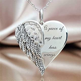 Madame Jewelry Angel Wing Necklace Heart Chain Pendant Jewelry - a Piece of My Heart has Wings