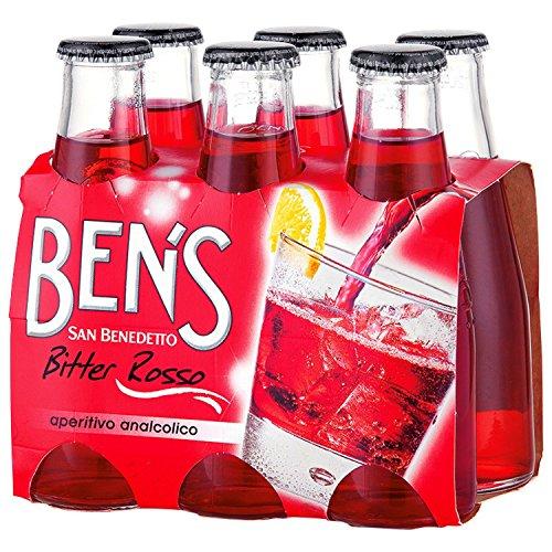 Ben's Bitter Rosso Aperitivo 6 x 100 ml. - San Benedetto Aperitif