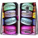 i-Case Funda del Teléfono Móvil para ASUS Zenfone 3 MAX ZC520TL 5.2', PU Billetera de Cuero Patrón de Moda Carcasa Libro Flip Case Antigolpes Cartera PU Cuero Funda con Soporte,Galletas de Colores
