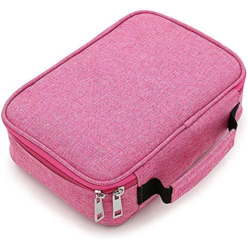 LIHEN Estuche para lápices Estuche para bolígrafos Cremalleras Estuche para bolígrafos Bolso para papelería Estuche para cosméticos(Rose Red)