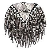 LINPAN Tableros de Hombro charretera Hombreras Placas distintivas Traje Uniforme Accesorios Fringe Hombro Cadena Borla Epaulet (Oro) Accesorios de Vestuario (Color : Silver)