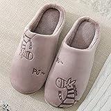 Zapatillas Casa Hombre Mujer Zapatillas De Invierno para Mujer, Zapatos Cálidos para Mujer, Zapatos De Plataforma Cómodos para Interiores, Zapatillas para Mujer, 6 Chocolate