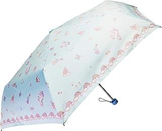 折りたたみ傘 子供 キッズ 手開き 軽量 親骨55cm 開閉らくらく 指をはさまない 女の子 ユニコーン ki-078