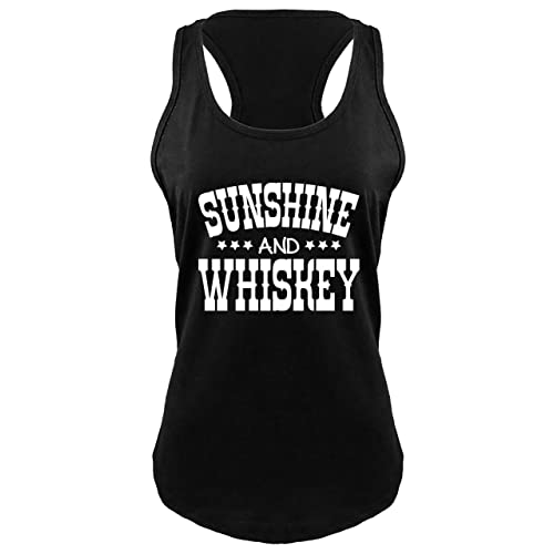 2a9d83ce Comical Shirt Ladies Sunshine and Whiskey Cute Country Gift Tee Racerback