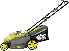 Sun Joe iON16LM 40-Volt 16-Inch Brushless Cordless Lawn Mower, Kit (w/4.0-Ah Battery +..