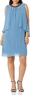 فستان رداء قصير بدون أكمام للنساء من S.L. Fashions