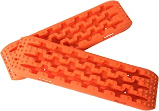 Toryea Orange 2 Pcs Auto Recovery Traction Tracks Emergency Tires Ladder Off-Road Mud, Sand, Snow Vehicle Extraction