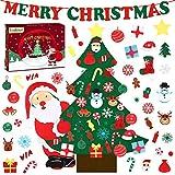 Yodeace Albero di Natale in Feltro da 38 Pollici Fai da Te con 40 Pezzi di Ornamenti Decorazioni per Porte di Casa da Parete Regali di Natale per Bambini Piccoli con Confezione Regalo di Babbo Natale
