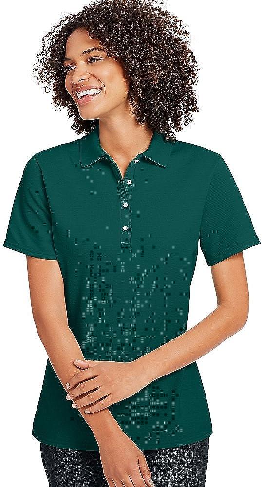 Hanes X-Temp Women's Pique Polo Shirt_Deep Forest_L