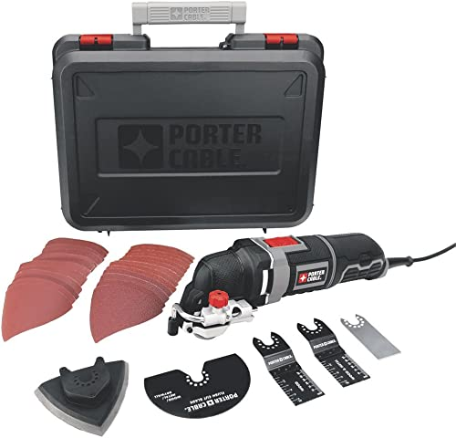 high quality PORTER-CABLE Oscillating Tool Kit with 31-Piece outlet online sale Accessories, 3-Amp online sale (PCE605K) sale