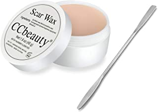 CCbeauty Professional Halloween Scar Wax(1.6 Oz) Kit SFX Special Effects Stage Makeup, Fake Wound Moulding Scars Wax with ...