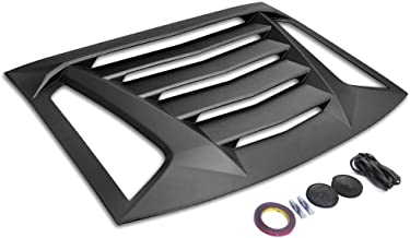 IKON MOTORSPORTSWindow Louver Compatible With 2011-2020 Dodge Charger | Ikon V2 Style Unpainted Black ABS Rear Vent Cover
