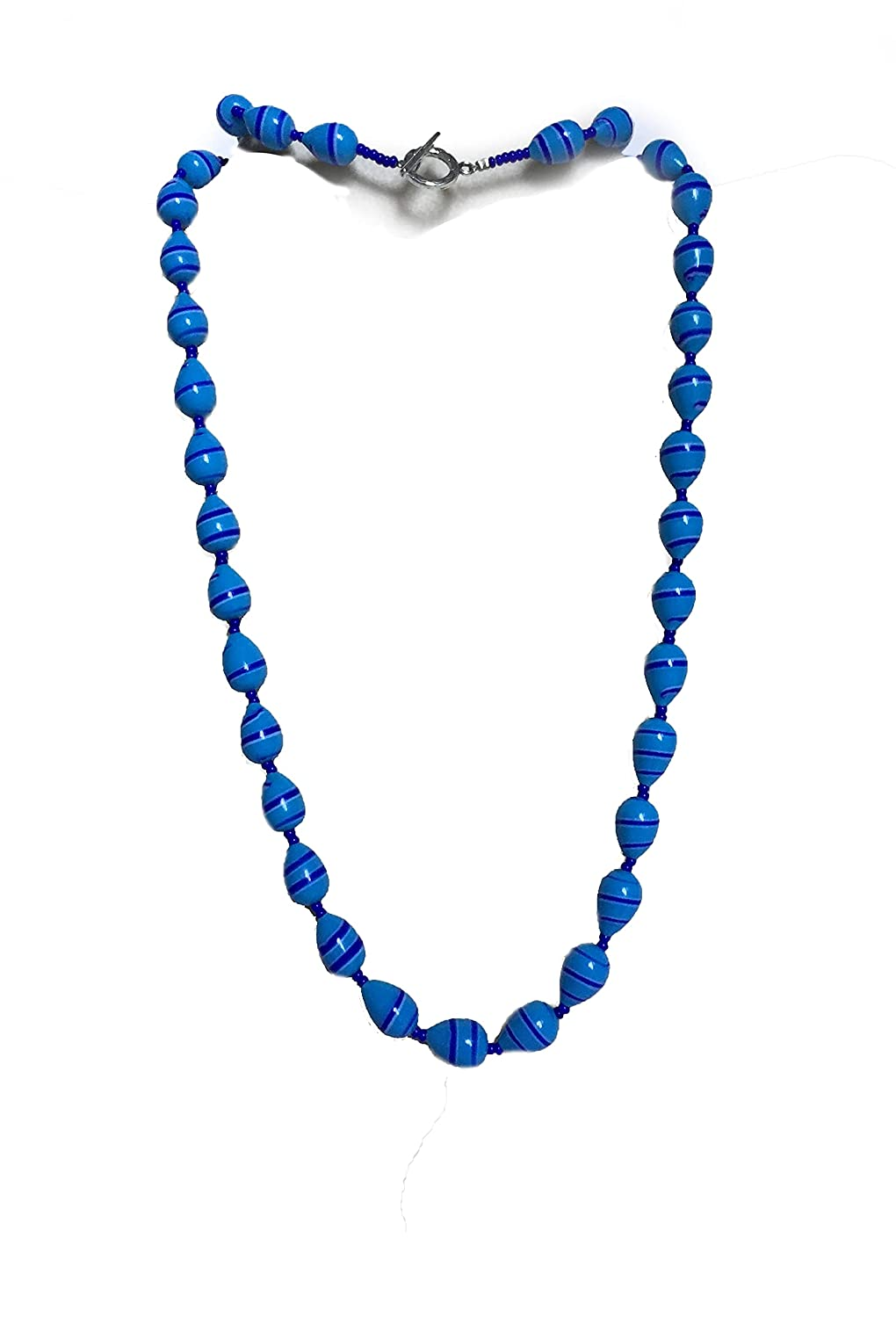 New life Blue Royal Long Max 79% OFF Handmade vintage Necklace. One-of-a-Kind