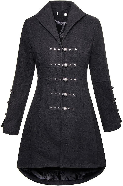 Bleeding Heart Womens Reincarnation Coat (Black)