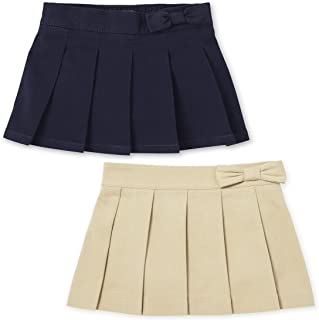 The Children's Place girls Toddler Uniform Pleated Skort 2-Pack Shorts