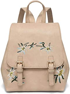 DIOMO Women Backpack Bags Purse PU Leather Girls Flowers Casual Travel Backpacks