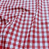 Stoff Baumwolle Acryl Bauernkaro rot weiß Tischdecke