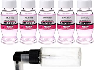 Hair Ampoules Damage Control 5 x 15ml with Spray Bottle - Repair dry damaged hair - Pre & After Treatment for Perm and Dye - Replace Conditioner Care Bleached Colored hair with Botanical Red Ginseng