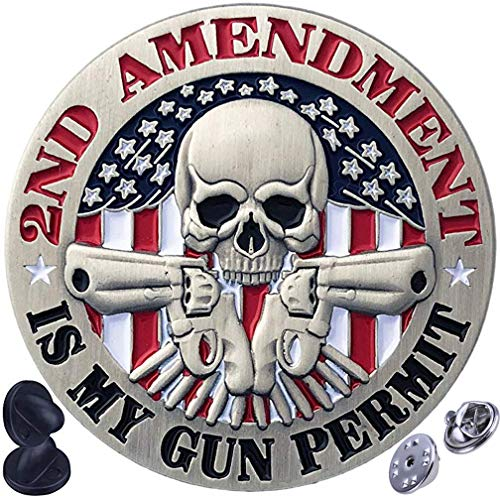2nd Amendment - Is My Gun Permit - Second Amendment Patriotic Double Clutch Collector Pin