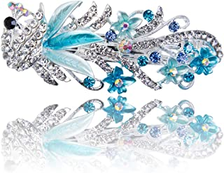 DARLING HER Women's Fashion Full Diamond Crystal Hairpin Hair Clips Female Alloy Big Hairpins Headdress