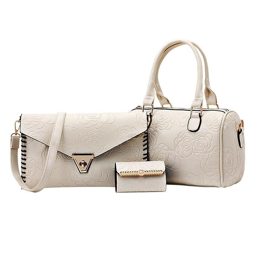 練る浸食磁気トートバック/ショルダーバック/ハンドバック/3PCS Women Leather Handbag Shoulder Bag Messenger Hobo Satchel Tote Purse Wallet