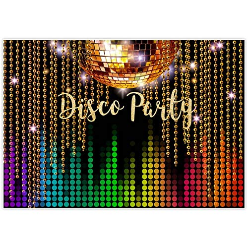 Allenjoy 7x5ft Photography Backdrop Disco Neon Adults Back to 80s 90s Birthday Party Decoration Supplies Lets Crazy in The Dark Dessert Banner Photography Background Photo Studio Booth Props Decor