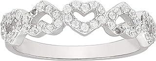 Ak Silver Women's Heart Design Valentines Ring - 9 US
