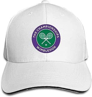 Unisex Adjustable 2016 Wimbledon Tennis Championships Flex Logo Baseball Caps Sports Outdoors Seasons Hat White