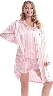 KimKen Satin Pajamas – 7-Piece Silk PJ Sets for Women – Elegant and Beautiful