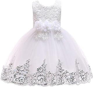 LYQ 子供のスカート白雪姫のスカートチュチュ子供ドレス女の子の衣装クリスマススカート女の子のドレス (色 : 白, サイズ : 110cm)