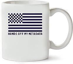 MugWorld Hands Off My MetaData Cool Flag Taza para Café Y Té