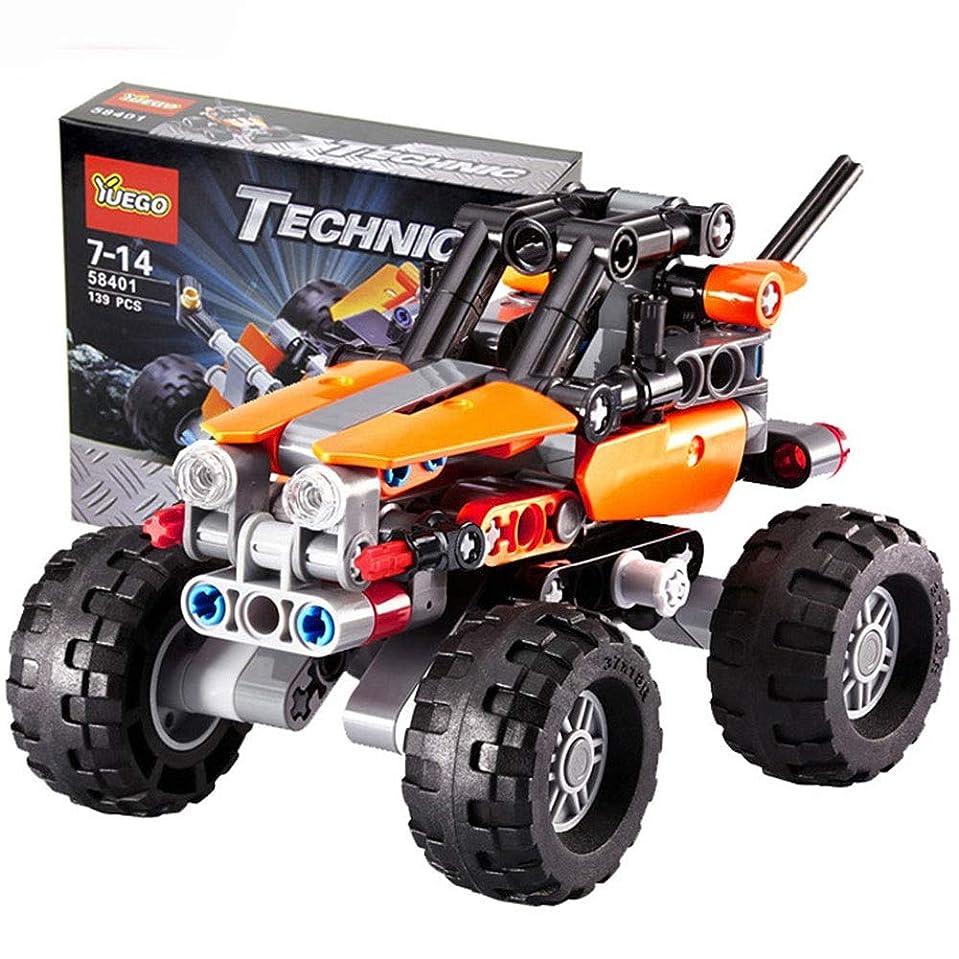 ステートメント談話推進力139ピースDIY組み立ておもちゃテックビルディングブロックのおもちゃオフロード車両教育ビルディングセットおもちゃ子供のための建設おもちゃ7-14歳の子供に最適