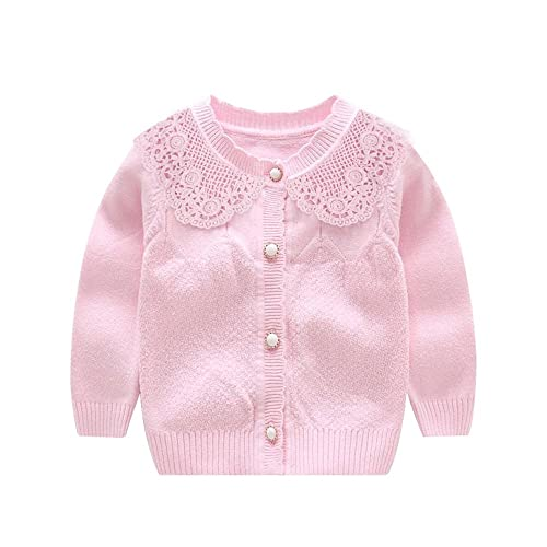 20b412cb848 XIAOHAWANG Knitted Baby Girls Cardigan Toddler Button up Sweaters