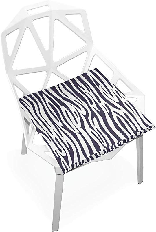 ILEEY Zebra Print Seat Cushion Chair Cushions Memory Foam Pads For Healthy Sitting At Home Office Kitchen Wheelchair Dining Patio Camping Square 16 X 16