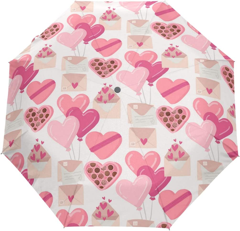 UV Protection Automatic Open Selling Raleigh Mall Day Valentine's Seamless Umbrellas
