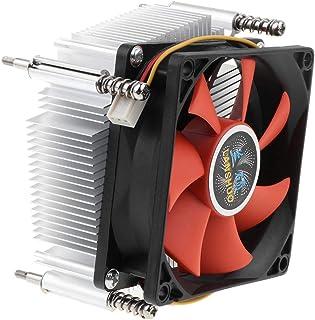 kesoto CPU Cooling Fan Heatsink Kit with Fins for Desktop Computer Cooler Accessory 3Pin 12V 2200Rpm 48Cfm