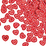 PAGOW 50Pcs Red Heart Embroidered Patches, Mini Iron on Patches for Clothing, Heart Patches Sew on Appliques for Clothes Dress Hat Pants Shoes Curtain, DIY Embroidery Patch Sewing Craft Decoration
