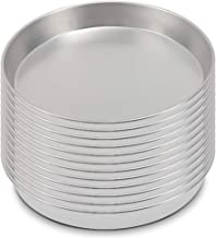 KITCHEN VENDOR Aluminum Round Cake Pan, NSF Certified Tapered Coupe Style Pan 14 x 2-Inch Tapered(Pack of 12)