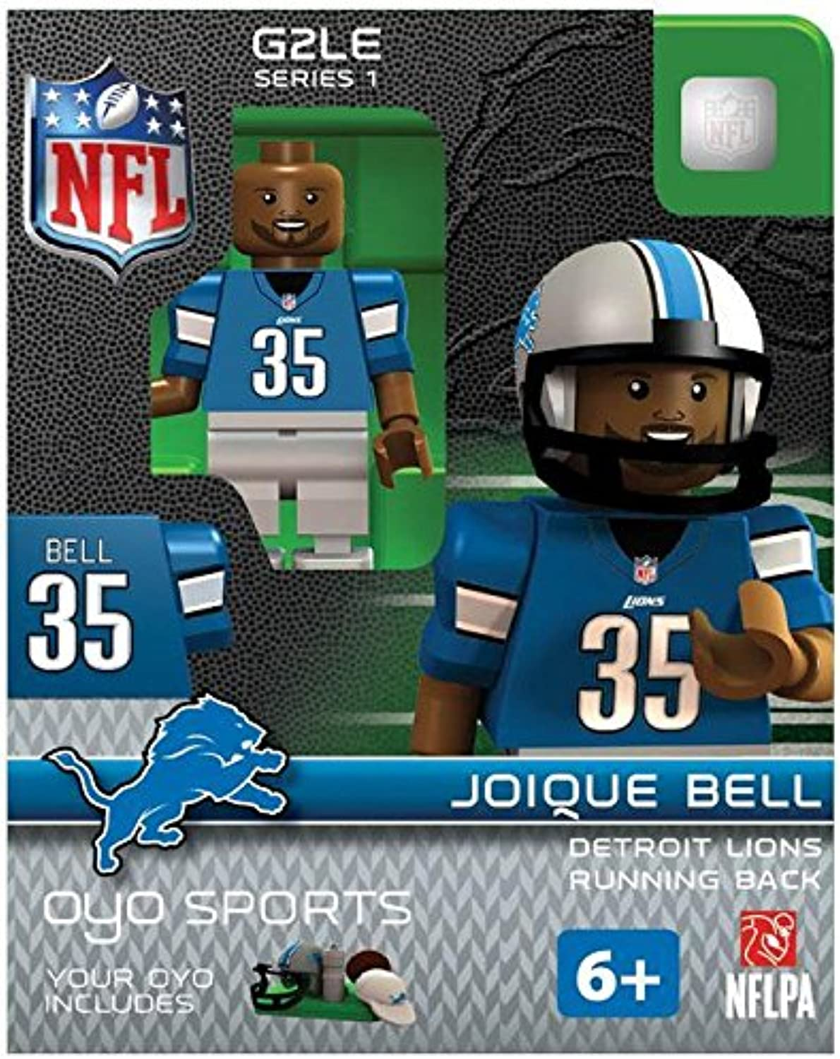 Joique Bell OYO NFL Detroit Lions G2 Series 1 Mini Figure Limited Edition
